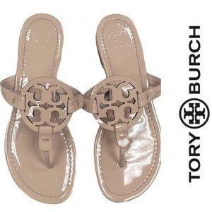 Tory Burch Shell Pink Patent Sandals Flip Flops